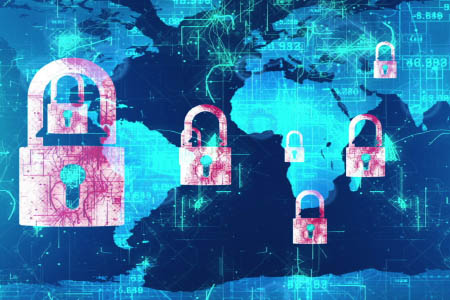 visualization of worldwide hacking threats
