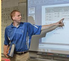 Lyndon instructor presenting from slide mode instead of presentation mode