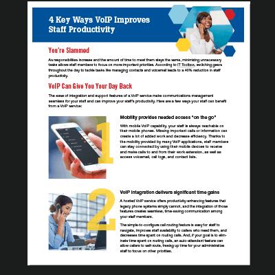 Key Ways VOIP Improves Staff Productivity